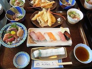 かじやばし海鮮ランチコース定食.JPG