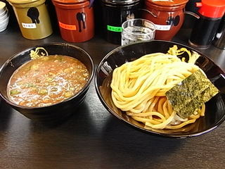 ドロ系豚骨つけ麺無極つけ麺中盛り.JPG