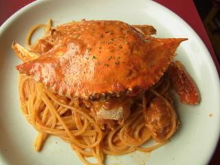 ラ・ベルデ新宿中央口店渡り蟹のトマトソーススパゲッティー1.JPG