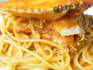 ラ・ベルデ新宿中央口店渡り蟹のトマトソーススパゲッティー2.JPG