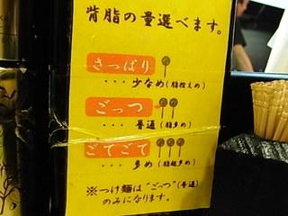 亀戸ラーメン店ごっつスープの背油の量.JPG