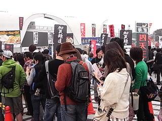 東京ラーメンショー2011麺家いろは行列途中.JPG