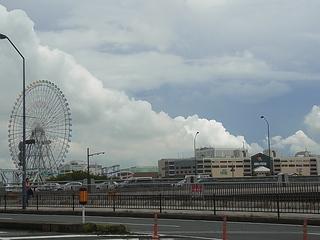 桜木町駅から望む横浜ワールドポーターズ.JPG