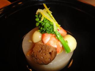 浅草むぎとろ総料理長特別料理の煮物.JPG